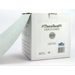 Thera-Band elastisk bånd 45 m (Sølv - Svært hardt)